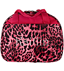 Pink Leopard Bowler Style Insulated Lunch Bag #CC20-506