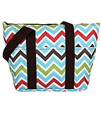 Multi-Color Chevron Insulated Lunch Bag #LT15-1323