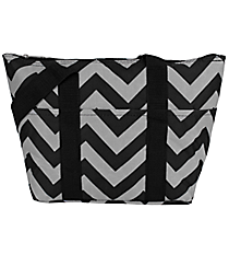 Black and Gray Chevron Insulated Lunch Bag #LT15-1324