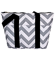 Gray and White Chevron Insulated Lunch Bag #LT15-1325