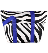 Mega Zebra with Blue Trim Insulated Lunch Bag #C15-2007-B