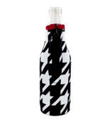 Houndstooth with Crimson Trim Bottle Cozy #BCOZ-HT