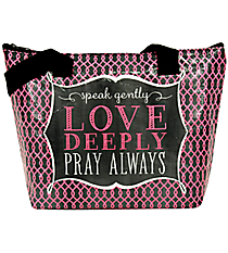"""Love Deeply"" Insulated Lunch Tote #LUNCH-FTH-LVE"