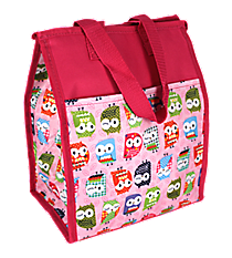 Pink Hootie-Hoo Insulated Lunch Tote #CC18-401