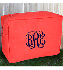 Coral Jute Cosmetic Case #MA613-CORAL