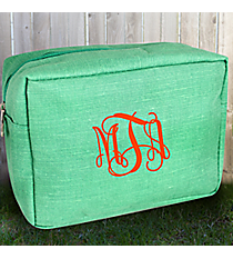 Mint Jute Cosmetic Case #MA613-MINT