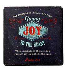One Psalm 19:8 Wooden Magnet #MGW015