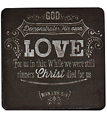 One Romans 5:8 Wooden Magnet #MGW018