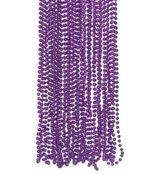 48 Purple Razzle Dazzle Bead Necklaces #24/12680-P