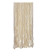 48 Gold Razzle Dazzle Bead Necklaces #24/12650-P