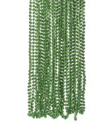 48 Green Metallic Bead Necklaces #24/12710-P