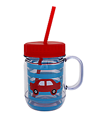 Kid's Car 20oz. Double Wall Mason Jar Tumbler with Straw #F135005