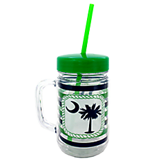 Palmetto Moon 22oz Double Wall Mason Jar with Straw #F137193