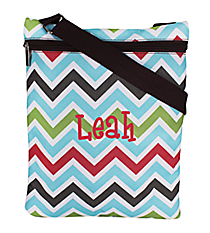 Multi-Color Chevron iPad Messenger Bag #MB3-1323