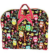 Owl Give a Hoot Garment Bag with Hot Pink Trim #WQL561-H/PINK