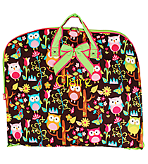 Owl Give a Hoot Garment Bag with Lime Trim #WQL561-LIME