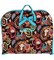 Monkey Island Garment Bag with Turquoise Trim #MON561-TURQ