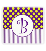 Gameday Purple & Yellow Mouse Pad #193 Choose Your Initial