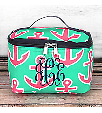 Mint and Pink Anchor Cosmetic Case #MPD277-NAVY