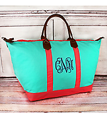 Mint and Coral Weekender #MU838-MINT/CORAL