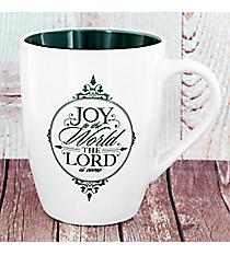 Green 'Joy to the Lord' Christmas Mug #MUG388