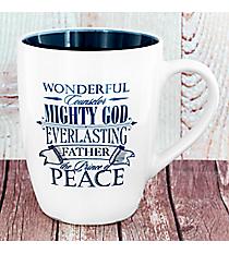 Blue 'Mighty God' Christmas Mug #MUG390