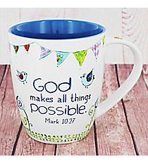 Mark 10:27 Bird Mug #MUG407