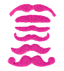 6 Hot Pink Mustaches #13605778