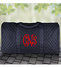 """21"""" Navy Quilted Duffle Bag #NA2626-NAVY"""
