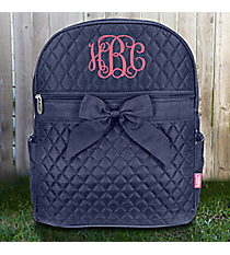 Navy Quilted Backpack #NA2828-NAVY