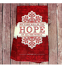 Pack of 20 Matthew 12:21 'Hope' Lunch Napkins #NAP003