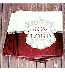 Pack of 20 'Joy to the Lord' Square Lunch Napkins #NAP007