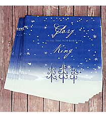 Pack of 20 'Glory To The Newborn King' Square Lunch Napkins #NAP008