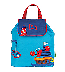 Stephen Joseph Children's Nautical Quilted Backpack #SJ-1001-46A