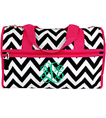 "Black Chevron with Hot Pink Trim 19"" Duffle Bag #NCH219J#BW/P"
