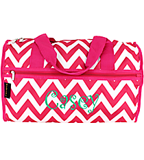 "Hot Pink Chevron 19"" Duffle Bag #NCH219J#R"