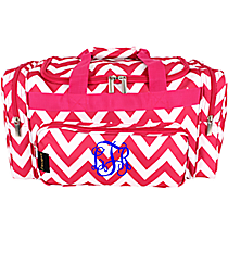 "Hot Pink Chevron 20"" Duffle Bag #NCH220K#R"