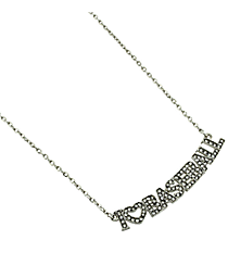 "18"" Crystal Accented ""I Love Baseball"" Necklace #QN1253-RH"
