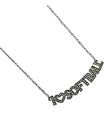 "18"" Crystal Accented ""I Love Softball"" Necklace #QN1256-RH"