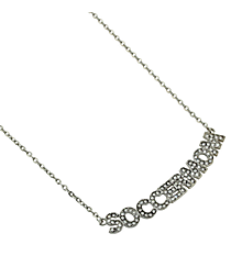 "18"" Crystal Accented ""Soccer Mom"" Necklace #QN1258-RH"