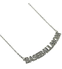 "18"" Crystal Accented ""Baseball Mom"" Necklace #QN1259-RH"