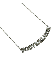 "18"" Crystal Accented ""Baseball Mom"" Necklace #QN1260-RH"