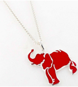 "25"" Red Elephant Pendant Necklace #SN0099-SR"