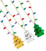One Flashing Christmas Tree Necklace #TREE-FLHB-ASST