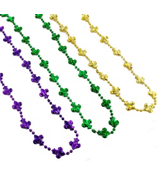 SALE! Set of 3 Mardi Gras Fleur de Lis Bead Necklaces #24/2116