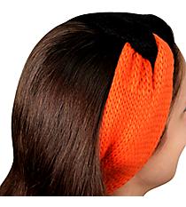 Black and Orange Knotted Knit Headband #NH0004-BKOR