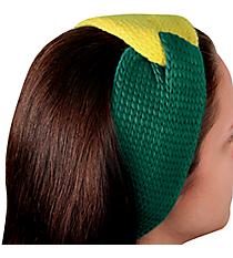 Green and Yellow Knotted Knit Headband #NH0004-GUYE