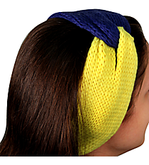 Navy and Yellow Knotted Knit Headband #NH0004-NVYE