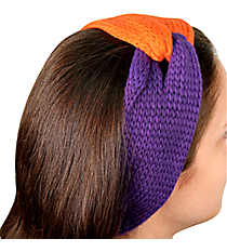 Purple and Orange Knotted Knit Headband #NH0004-PUOR