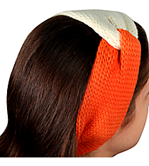 Orange and White Knotted Knit Headband #NH0004-WTOR